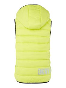 Boys sleeveless puffer jacket
