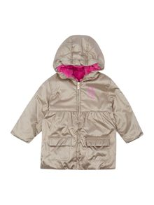 DKNY Baby girls hooded parka