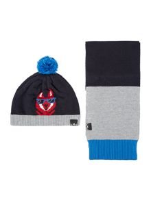 Little Marc Jacobs Boys knitted scarf and hat set