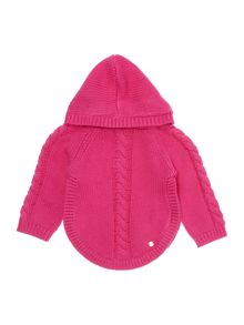 Baby girls hooded knitted cardigan
