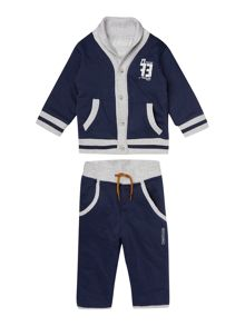 Baby boys set of cardigan and trousers