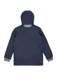 Boys hooded parka with removable sleeves