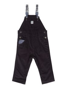 Baby boys velvet dungaree