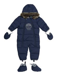 Timberland Baby boys hooded snowsuit