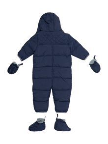 Baby boys hooded snowsuit