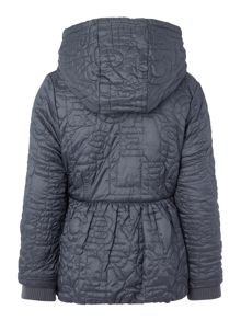 Little Marc Jacobs Girls hooded puffer jacket