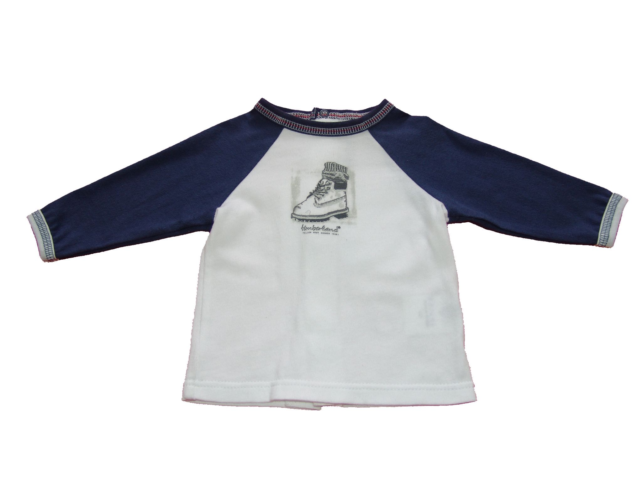 Timberland Long sleeved T-shirt with print front Navy product image