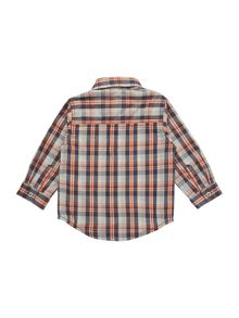 Baby boys long sleeve checked shirt