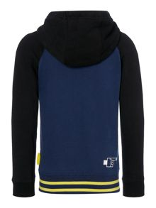 DKNY Boys Hooded fleece cardigan