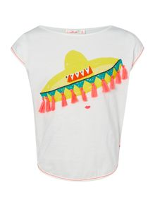 Billieblush Girls T-Shirt with Printed Sombrero