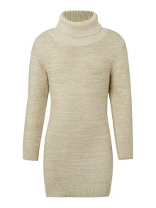 DKNY Girls knitted turtleneck dress