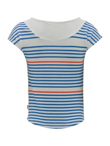 Girls Striped T-Shirt with Sequin