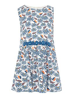 Girls All over printed jungle dress