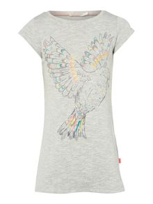 Billieblush Girls Grey Bird Print Dress