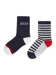 Hugo Boss Boys Set Of Two Pair Of Socks