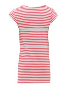 Billieblush Girls Striped Dress with Sequin