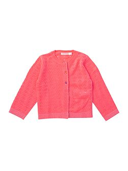 Baby girls Knitted Pointelle Cardigan