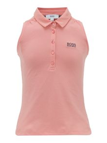 Hugo Boss Girls Sleeveless Polo Shirt