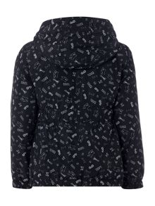 Karl Lagerfeld Girls All-over printed hooded raincoat
