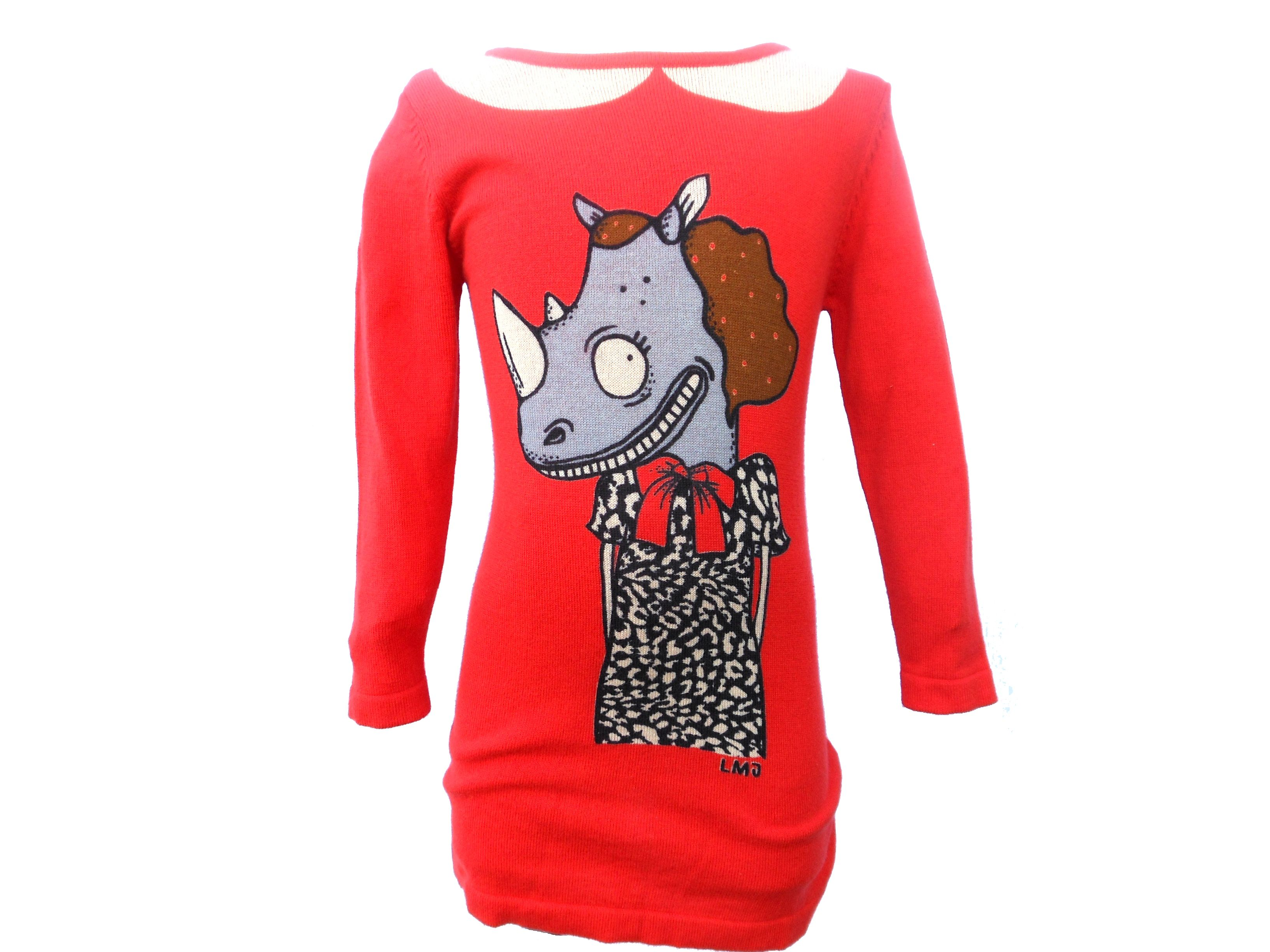 Girl`s chile red rhino dress