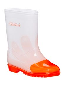 Billieblush Girls white wellies with flower print