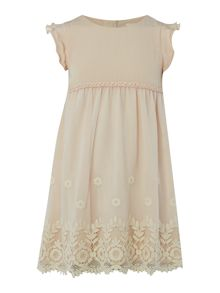 Carrement Beau Girls Vintage embroidered dress