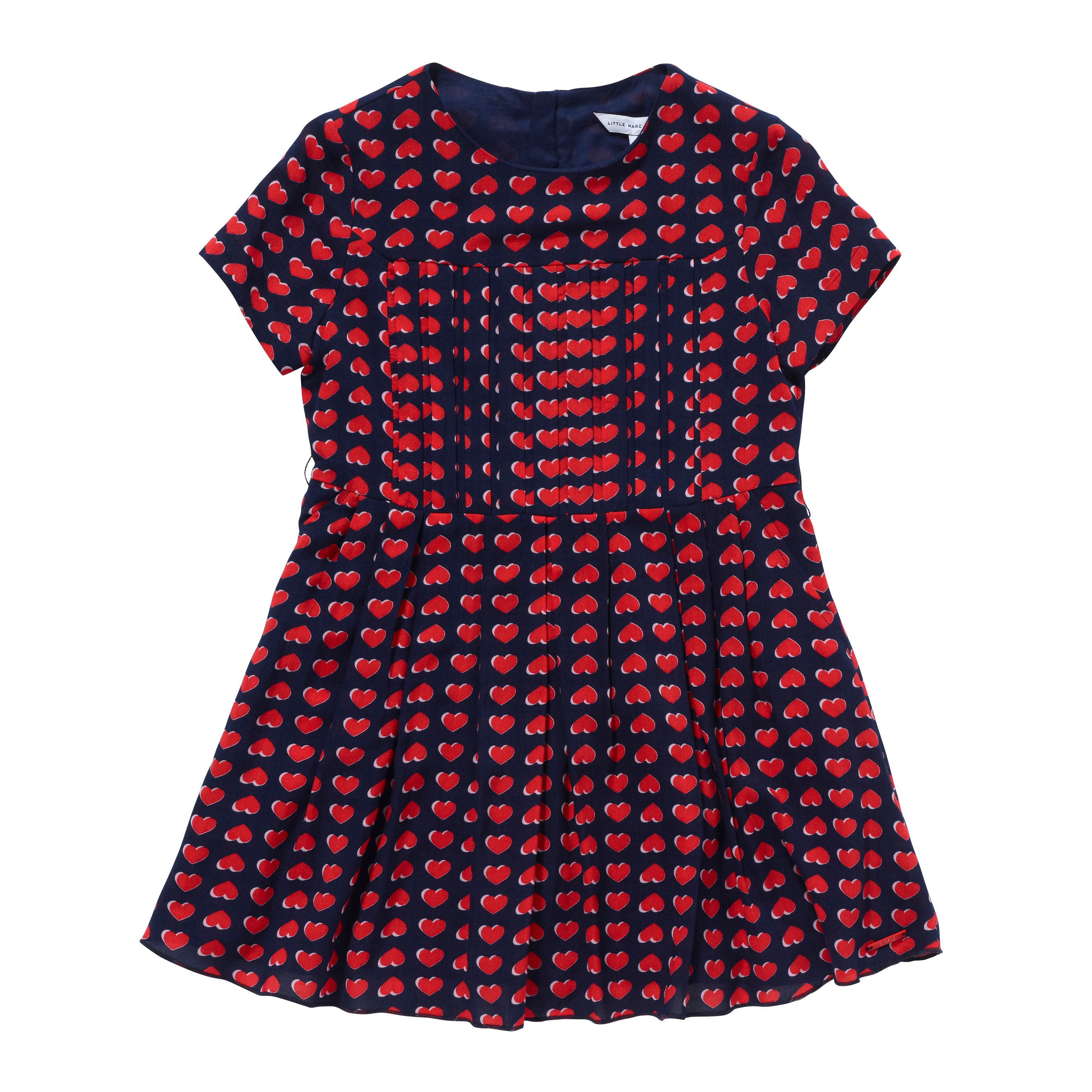 Girl`s red and navy dress