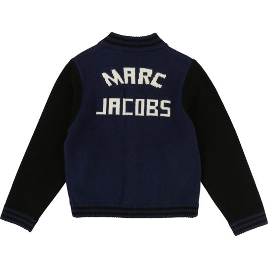 Little Marc Jacobs Boys Bicolor Knitted Cardigan