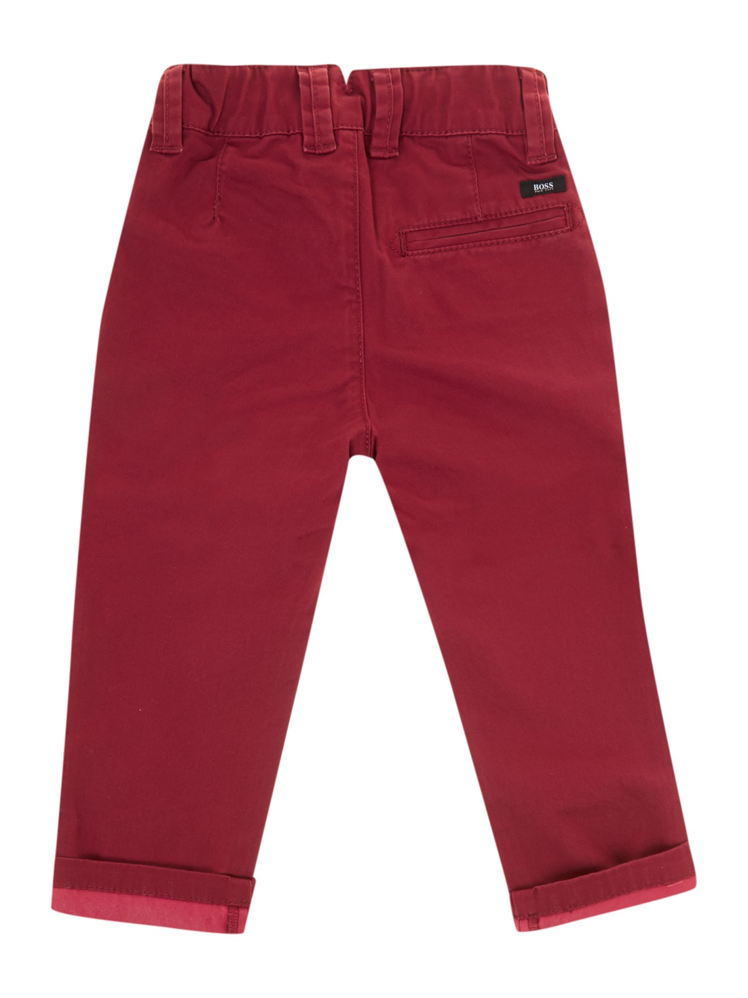 Boys twill chino trousers