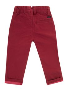 Baby boys twill chino trousers