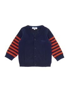 Baby boys wool knitted long sleeve cardigan
