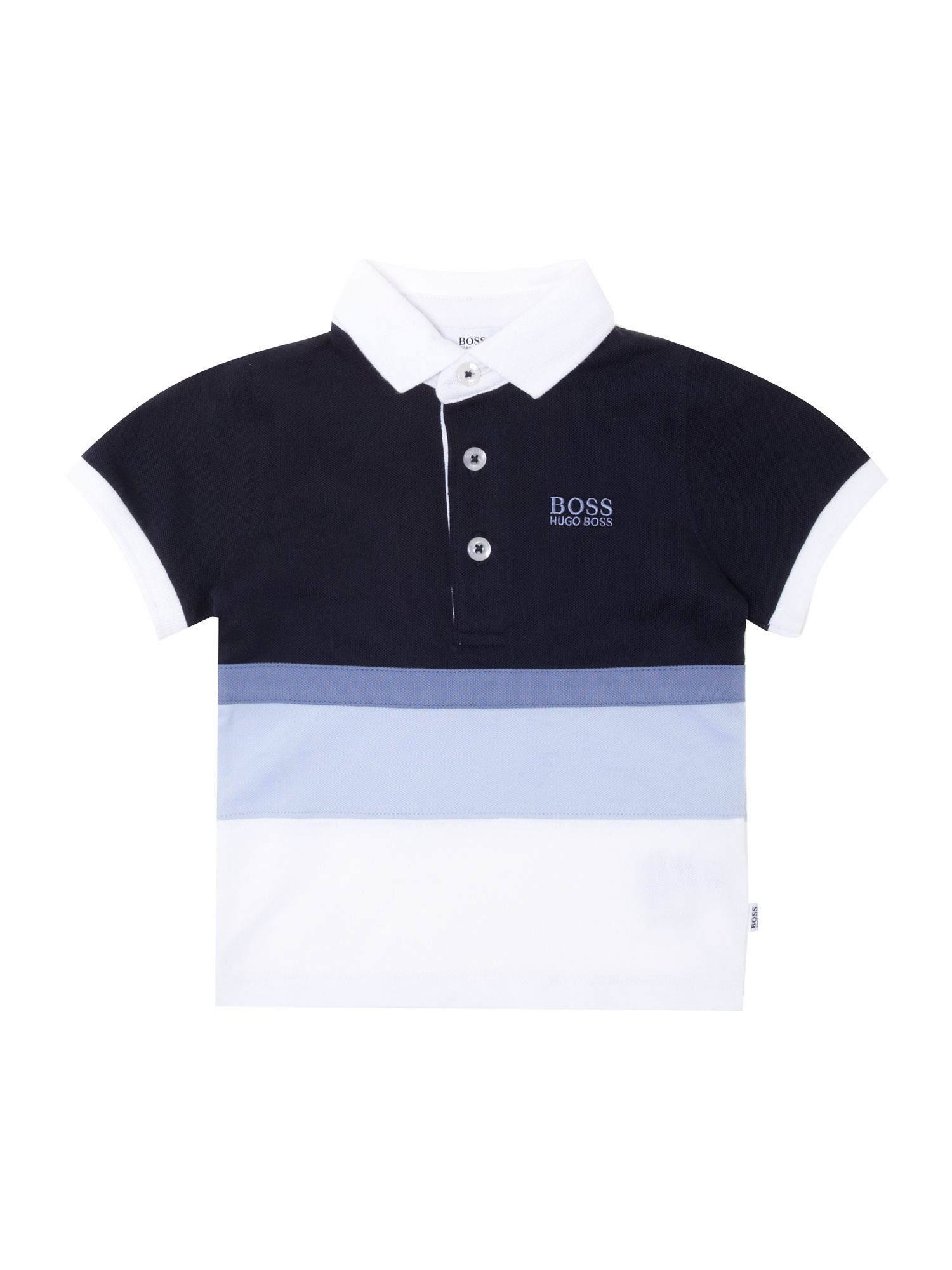 Boys striped short sleeve polo shirt