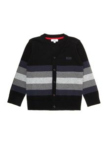 Boys wool knitted long sleeve cardigan