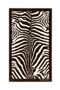 Zebra brown beach towel