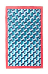 Yves Delorme Square Lagon beach towel
