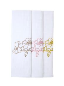 Yves Delorme Idylle Blush Set of 3 guest towels
