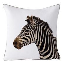 Yves Delorme Soko 1 blanc cushion cover 45x45