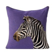 Yves Delorme Soko 1 Violet Cushion Cover  45x45