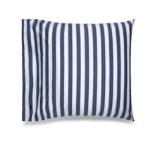 Club stripe navy square pillow case pair