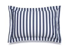 Club stripe navy standard sham