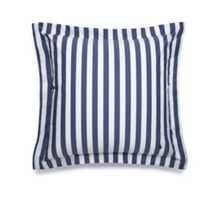 Club stripe navy square sham