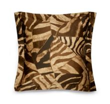 Ralph Lauren Home Victoria falls zebra brown square sham