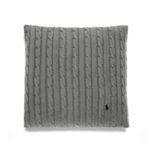 Cable charcoal cushion cover 45x45