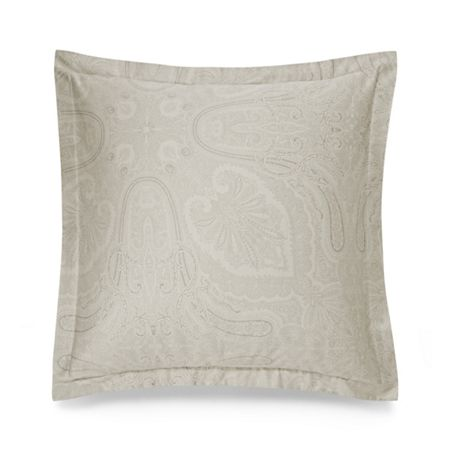 Ralph Lauren Home Doncaster silver square pillow case