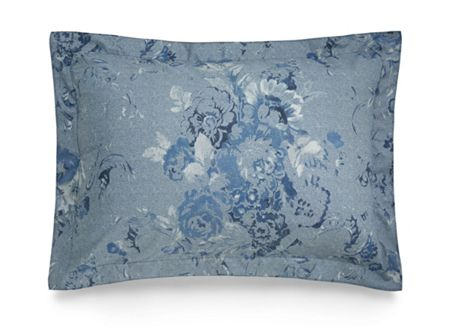Ralph Lauren Home Indigo montauk floral blue standard pillow case