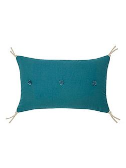 Yves Delorme Calicot Peacock cushion cover