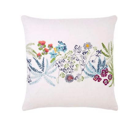 Yves Delorme Enfleur square cushion cover