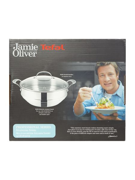 Jamie Oliver by Tefal Professional Series Universal Steamer with Lid
