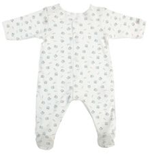 Baby boys 100% organic cotton sleepsuit