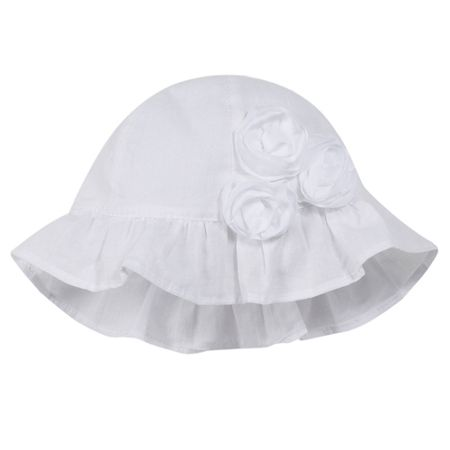 Absorba Girls adorable sun hat in cotton voile